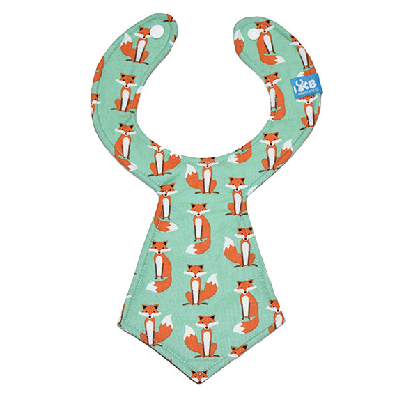 Kinderbib Baby Neck Tie Bib Foxes