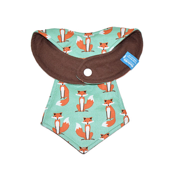 Kinderbib Baby Neck Tie Bib Foxes Back