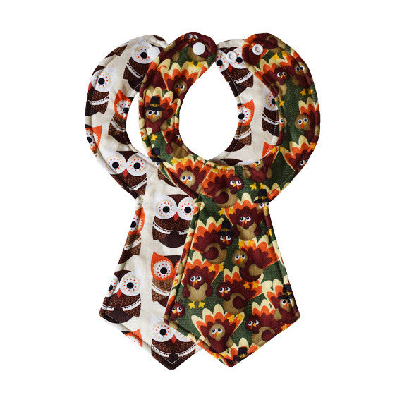 Thanksgiving Baby Necktie Bib Duo