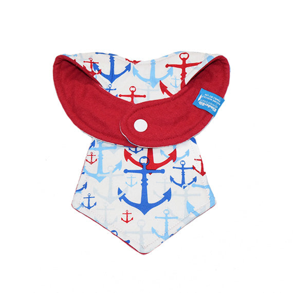 Kinderbib Baby Necktie Bib Anchors Back