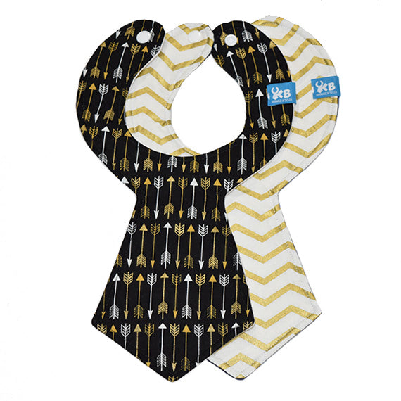 Arrows Baby Necktie Bib Duo