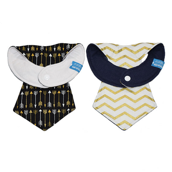 Kinderbib Baby Necktie Bib Arrows Set Back