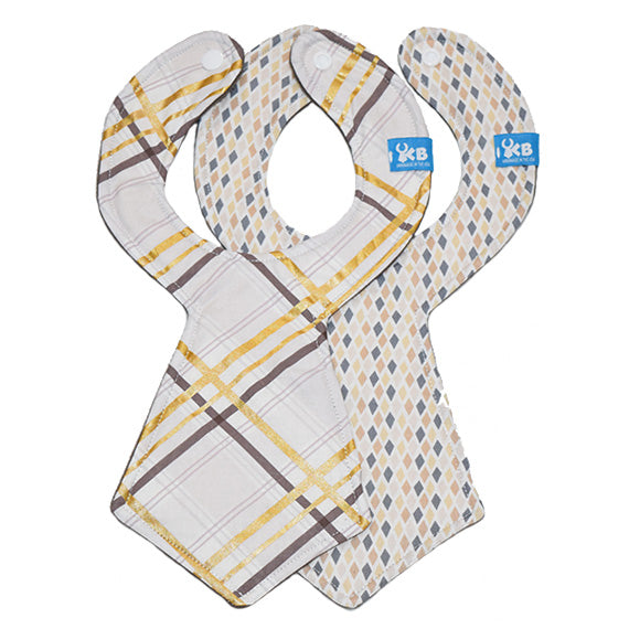 Business Baby Necktie Bib Duo
