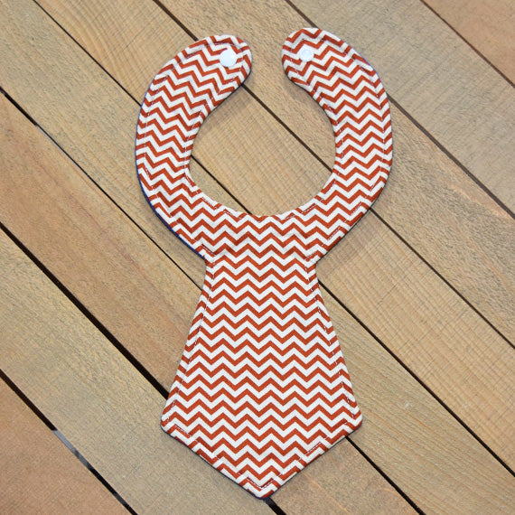 Brown Chevron Baby Necktie Bib
