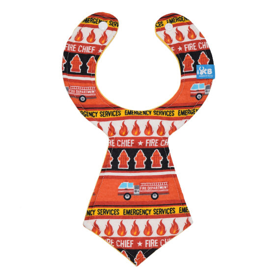 Fire Chief Baby Necktie Bib
