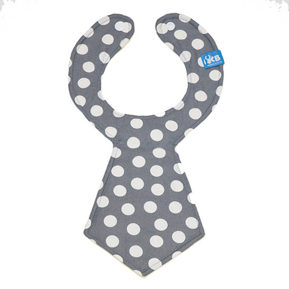 Kinderbib Baby Neck Tie Bib Gray Dot
