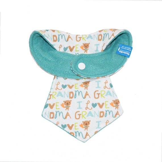 Kinderbib Baby Neck Tie Bib Love Grandma Back