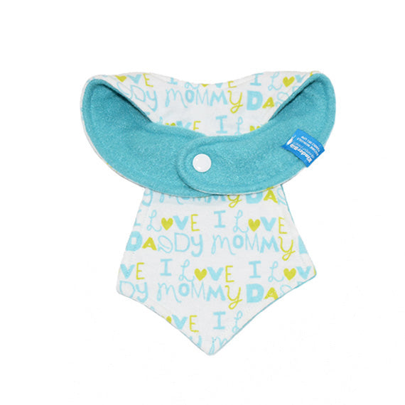 Kinderbib Baby Neck Tie Bib Love Mommy Daddy Baby