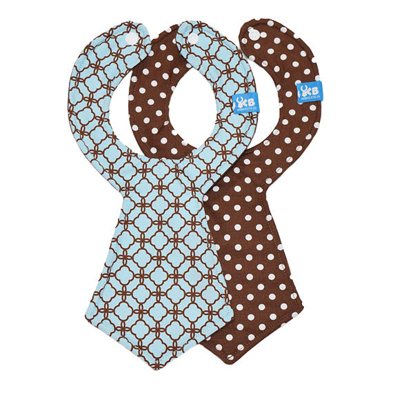 Kinderbib Baby Neck Tie Bibs Mint Chocolate Duo