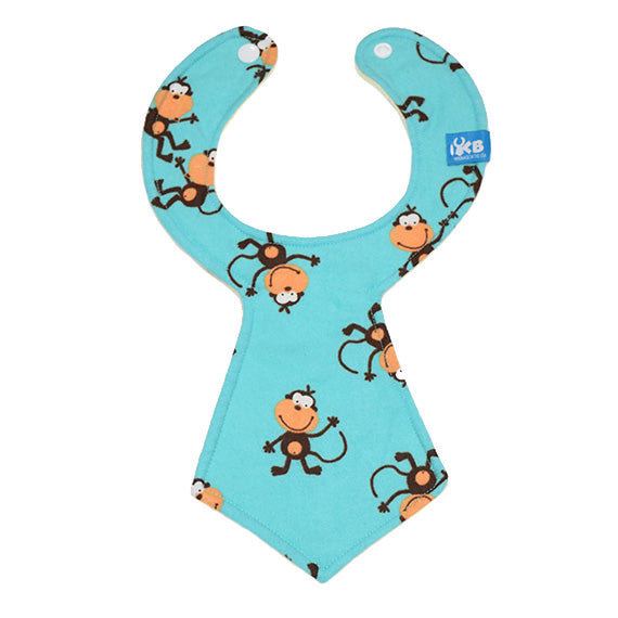 Kinderbib Baby Neck Tie Bib Monkey