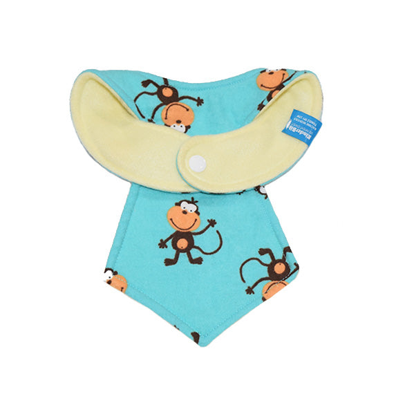 Kinderbib Baby Neck Tie Bib Monkey Back