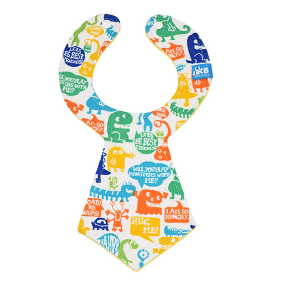 Monsters Baby Necktie Bib