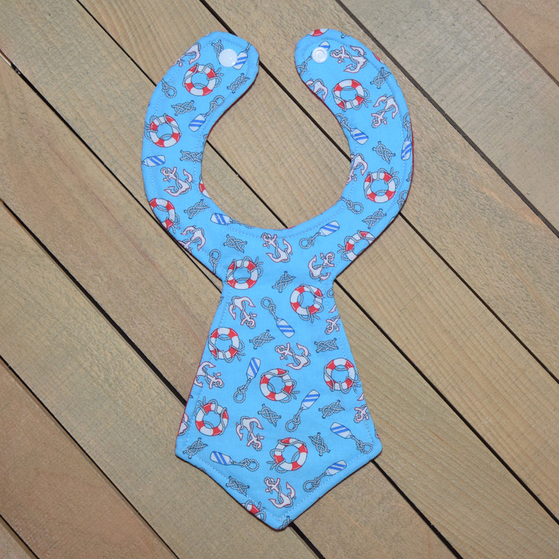 Nautical Baby Necktie Bib