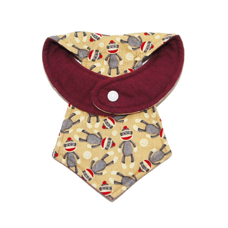 Kinderbib Baby Neck Tie Sock Monkey Baby
