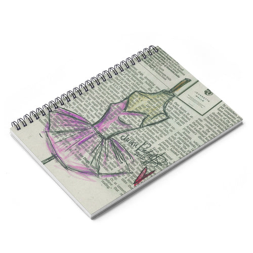 Pink Ballerina Dress Spiral Notebook