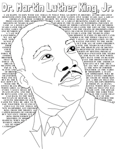 Dr. Martin Luther King, Jr. Coloring Sheet