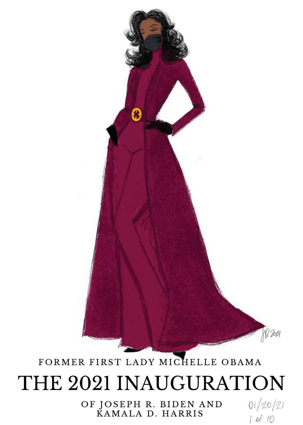 Michelle Obama 2021 Inauguration Illustration Print