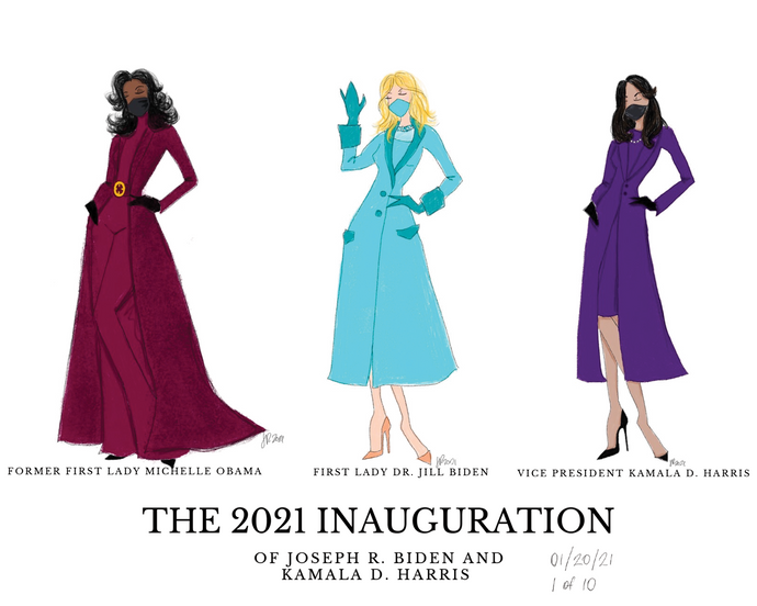 2021 Inauguration Group Illustration Print