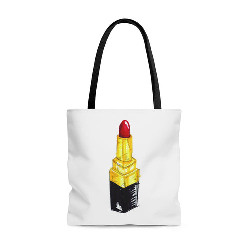 Red Rouge Lipstick Tote Bag