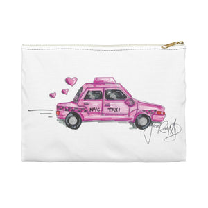 Pink Love Taxi Accessory Pouch