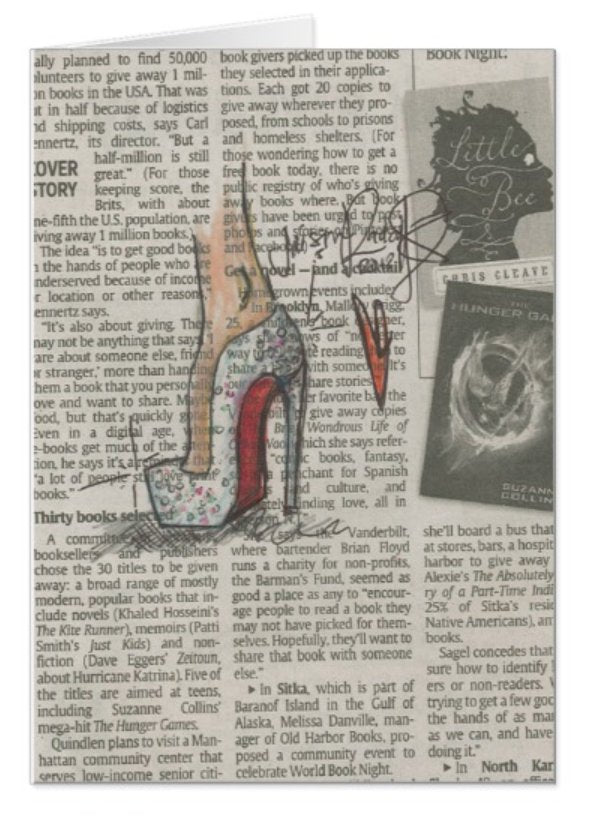 Crystal Heel / Signature Note Card Collection