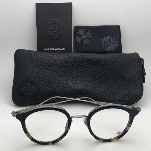 New CHROME HEARTS Eyeglasses ROMANTICAL BMZ/AS Black Maize & Antique Silver Frame