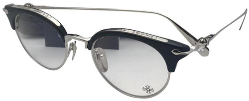 New CHROME HEARTS Eyeglasses SLUNTRADICTION II-A BK/SS 48-20 Black & Silver Frame