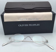 Load image into Gallery viewer, New OLIVER PEOPLES Eyeglasses CALIDOR OV 1185 43-24 Silver Frames Saddle Bridge