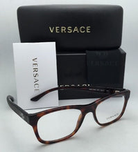 Load image into Gallery viewer, New VERSACE Rx-able Rectangular Eyeglasses 3199 879 53-17 Havana Tortoise Frames