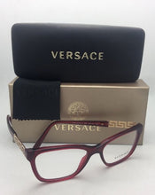 Load image into Gallery viewer, New VERSACE Eyeglasses VE 3192-B 388 52-16 140 Red Transparent Frame w/Crystals