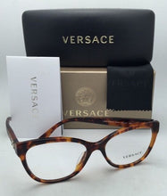 Load image into Gallery viewer, New VERSACE Eyeglasses VE 3193-A 5074 54-16 140 Havana Cat-Eye Frames