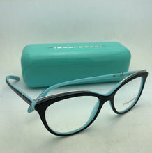 Load image into Gallery viewer, TIFFANY & Co. Eyeglasses TF 2147-B 8055 52-16 Black on Blue Frames with Crystals