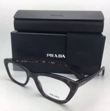 Load image into Gallery viewer, New PRADA Eyeglasses VPR 03Q 2AU-1O1 52-18 140 Tortoise Havana Cat-Eye Frame