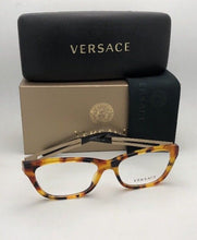 Load image into Gallery viewer, New VERSACE Eyeglasses VE 3248 5074 54-16 140 Havana Cat-Eye Frames
