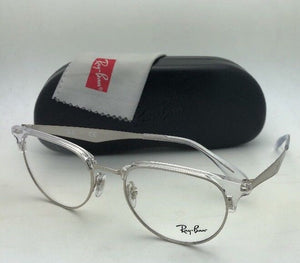 b1017f6a08e New RAY-BAN Rx-able Eyeglasses RB 6396 2936 51-19 Clear and Silver Frames