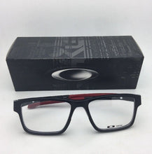 Load image into Gallery viewer, New OAKLEY Eyeglasses CHAMFER 2 OX8040-0554 54-17 140 Black & Burgundy Frame