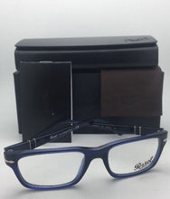 Load image into Gallery viewer, New PERSOL Rx-able Classic Eyeglasses 3096-V 181 53-18 Blue Transparent Frames