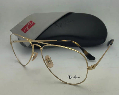 New RAY-BAN Classic Aviator Rx-able Eyeglasses RB 6489 2500 58-14 140 Gold Frame