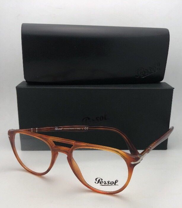 New PERSOL Rx-able Eyeglasses 3160-V 9041 50-18 145 Tierra Di Sienna Frames