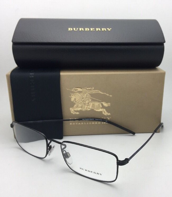 New BURBERRY Eyeglasses B 1274 1007 55-18 140 Black & Burberry Plaid Frames