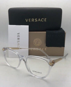 New VERSACE Rx-able Eyeglasses MOD.3242-A 148 54-18 140 Clear Transparent & Gold