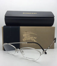 Load image into Gallery viewer, New BURBERRY Eyeglasses B 1263TD 1005 53-16 Silver & Burberry Plaid Semi-Rimless