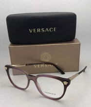 Load image into Gallery viewer, New VERSACE Eyeglasses MOD.3242 5229 54-18 Purple Fade Brown Frame w/Medusa Gold