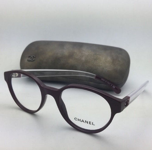 New CHANEL Eyeglasses 3273 1448 49-19 140 Burgundy & Clear Frames