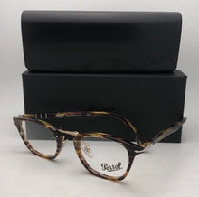 Load image into Gallery viewer, New PERSOL Eyeglasses Typewriter Edition 3109-V 938 47-22 Green-Brown Tortoise