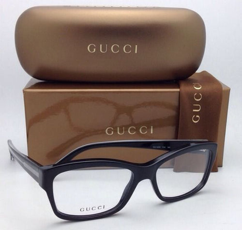 New GUCCI Eyeglasses GG 3205 Y6C 53-16 140 Black & Clear Frame
