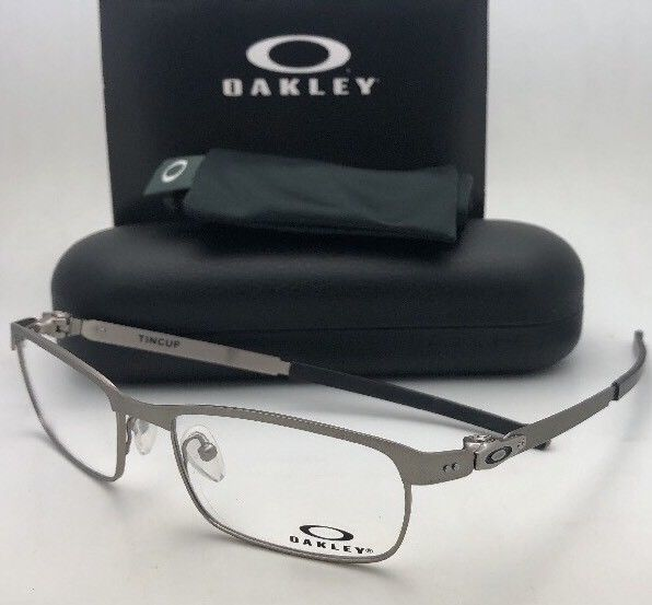 New OAKLEY Eyeglasses TINCUP OX3184-0452 52-17 135 Powder Steel Frames