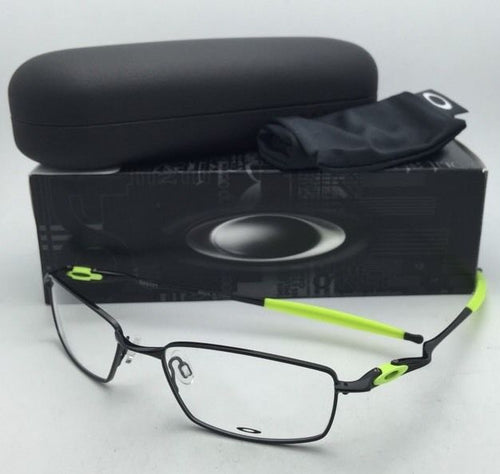 New OAKLEY Eyeglasses OX3131-0653 53-18 Polished Black+Retina Burn Yellow Frame