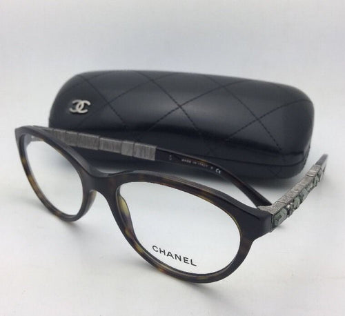 New CHANEL Eyeglasses 3306-B 714 54-18 135 Tortoise & Gunmetal w/ Crystals