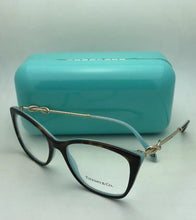 Load image into Gallery viewer, New TIFFANY & CO. Eyeglasses TF 2160-B 8134 54-17 140 Tortoise Blue & Gold Frame